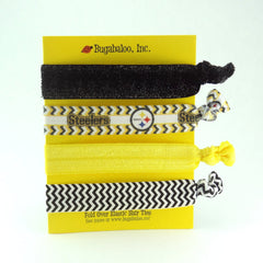 FOE No Crease Hair Ties - Pittsburgh Steelers, Set of 4