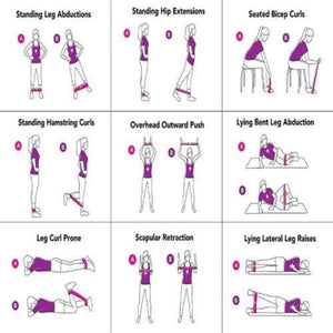 Exercise Resistance Bands Sporty Types