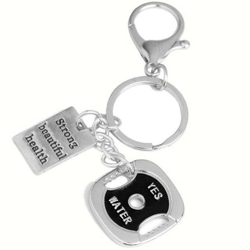Fitness Themed Keyrings Sporty Types