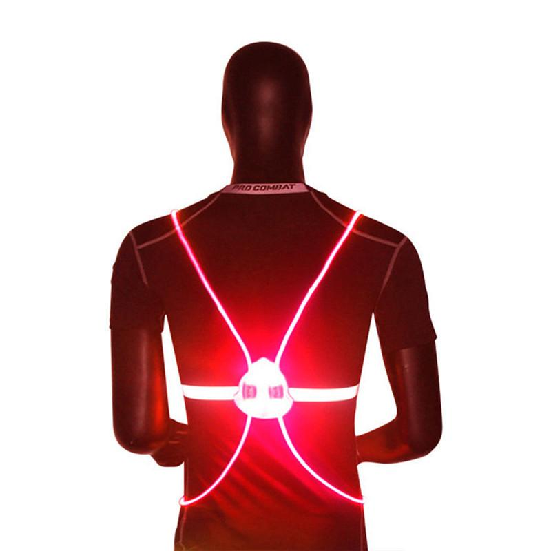 LED Flashing High Visibility Vest Sporty Types