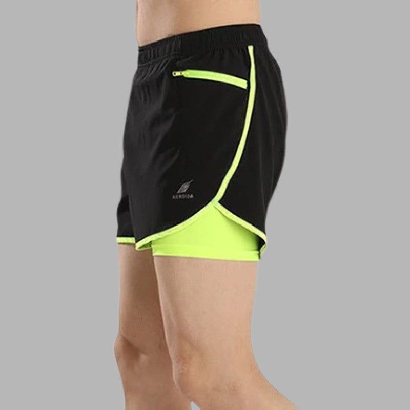 Men's 2 in 1 Running Shorts Sporty Types
