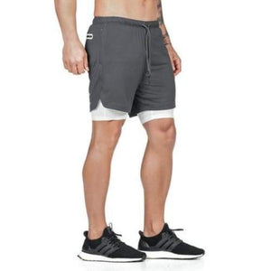 Men's 2 in 1 Running Shorts With Security Pocket Sporty Types