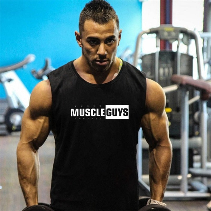Men's Muscle Guys Sleeveless Top Sporty Types