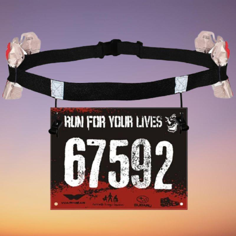 Race Number Belt With Gel Holder Sporty Types