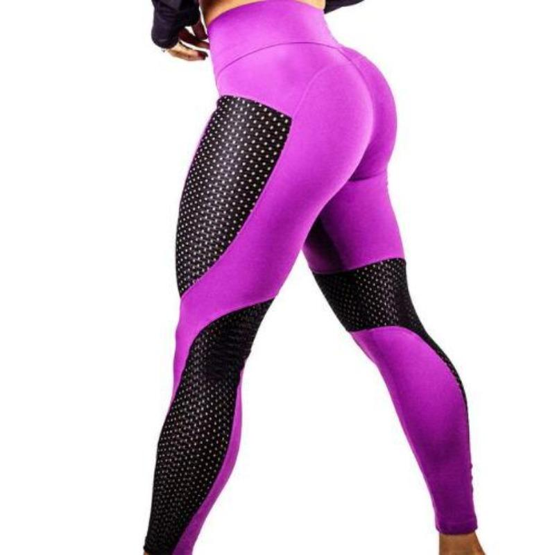 Women's Leggings With Mesh Inserts Sporty Types