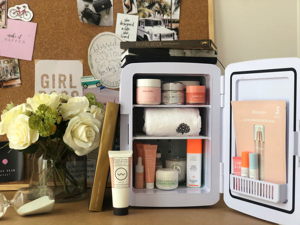 WORKING FROM HOME SELF CARE WITH THE BEAUTY FRIDGE