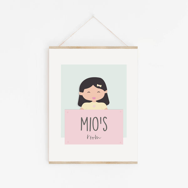Mio Room Sign for Infants - Personalised Nursery Decor