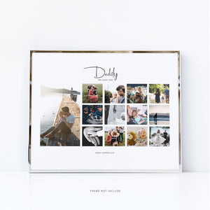 Father's Day Customised Collage | Personalised Photo Collage Gift for Dad