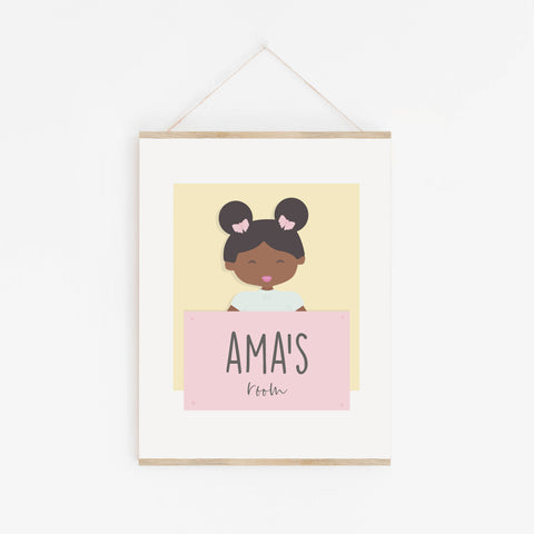 A is for Ama Personalised Wall Art for Kids | Baby Decor
