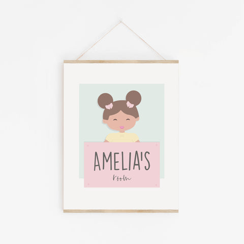 A is for Amelia Personalised Wall Print for Child's Room | Baby Art