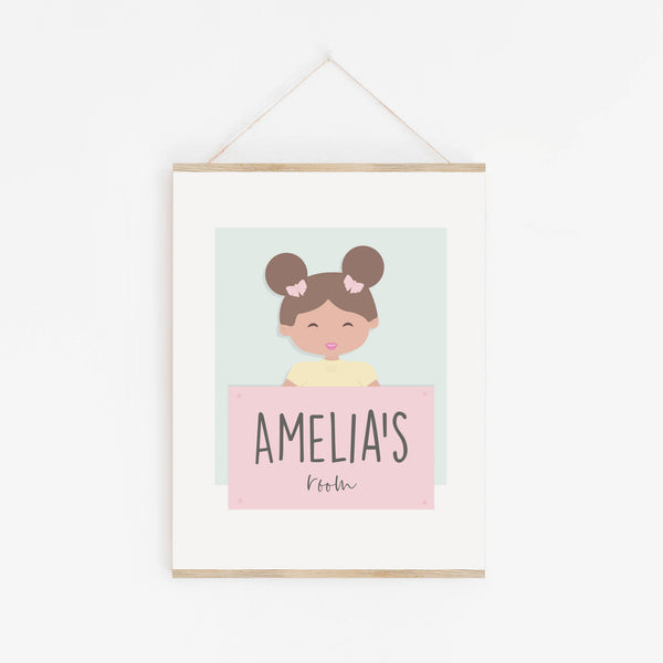 Nursery Wall Sign | Personalised Name Print for Children