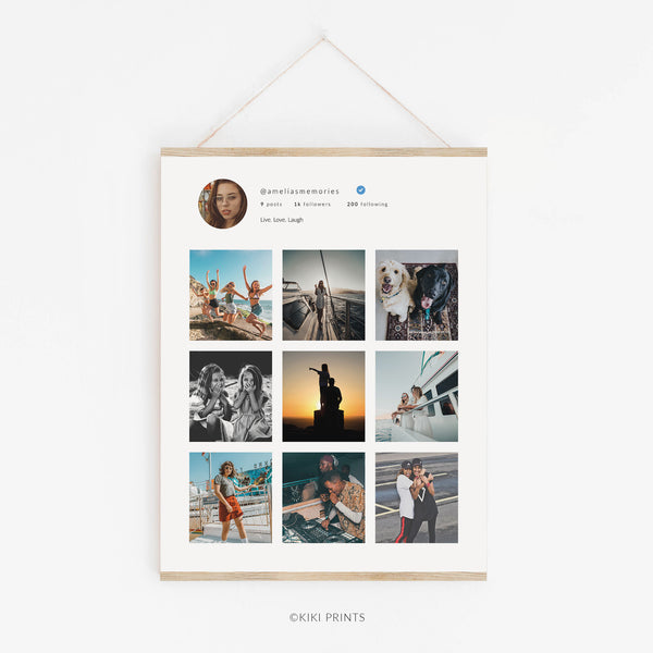 Instagram Style Collage Print