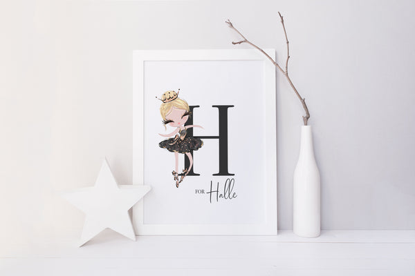 Baby Ballerina Wall Art for Sophia / Personalised Ballerina Print
