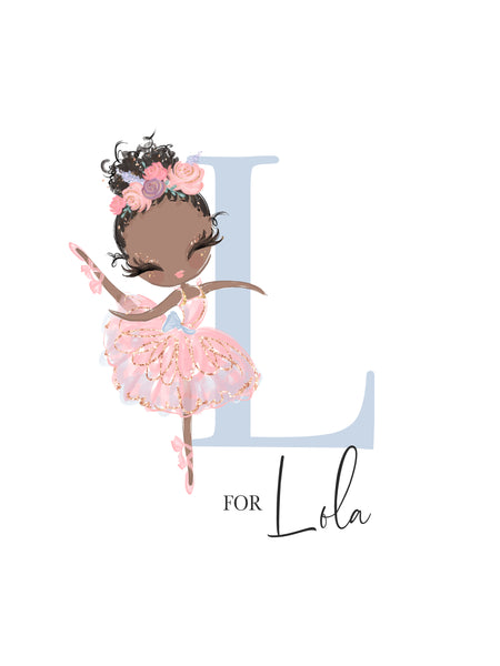 T is for Talia Wall Art for Ballet Princesses