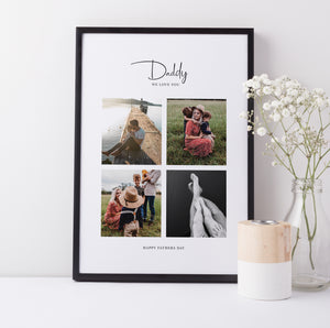 Personalised Photo Collage for Dad | Father's Favourite Pictures