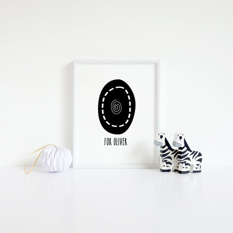 personalised letter print - Oliver