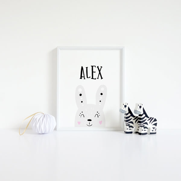 Bunny Rabbit Kids Wall Art