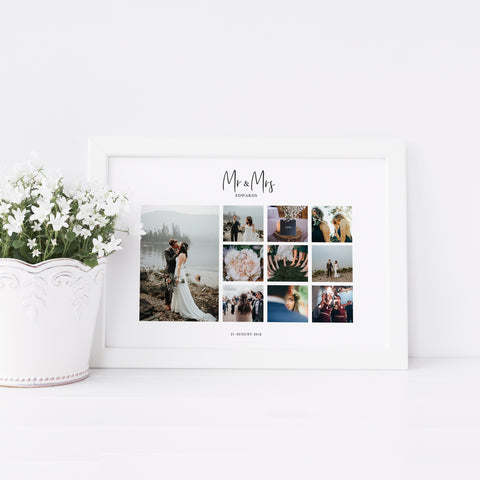 personalised wedding collage
