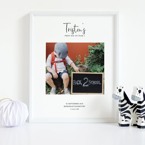 School Photo Collage | Back to School Personalised Photo Print
