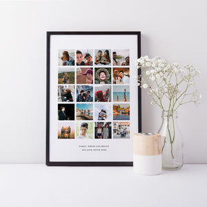 Portrait 20 photo collage for family keepsake | family 20 picture gift