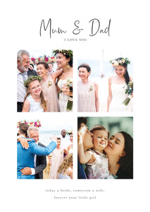 Thank you Gift Collage for Parents of the Bride and Groom | 4 Photo Collage