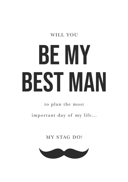 Proposal Card for Best Man / Best Man Digital Proposal Card (DIGITAL DOWNLOAD)
