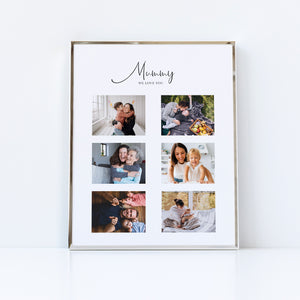 Happy Birthday Mum Photo Collage Gift | Personalised Print for Mothers
