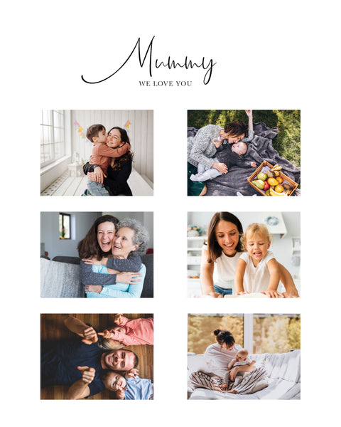 Mother's Day collage / Mother's Day gift / Custom photo collage