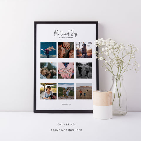 Couple's Photo Collage Print | Personalised Picture Print