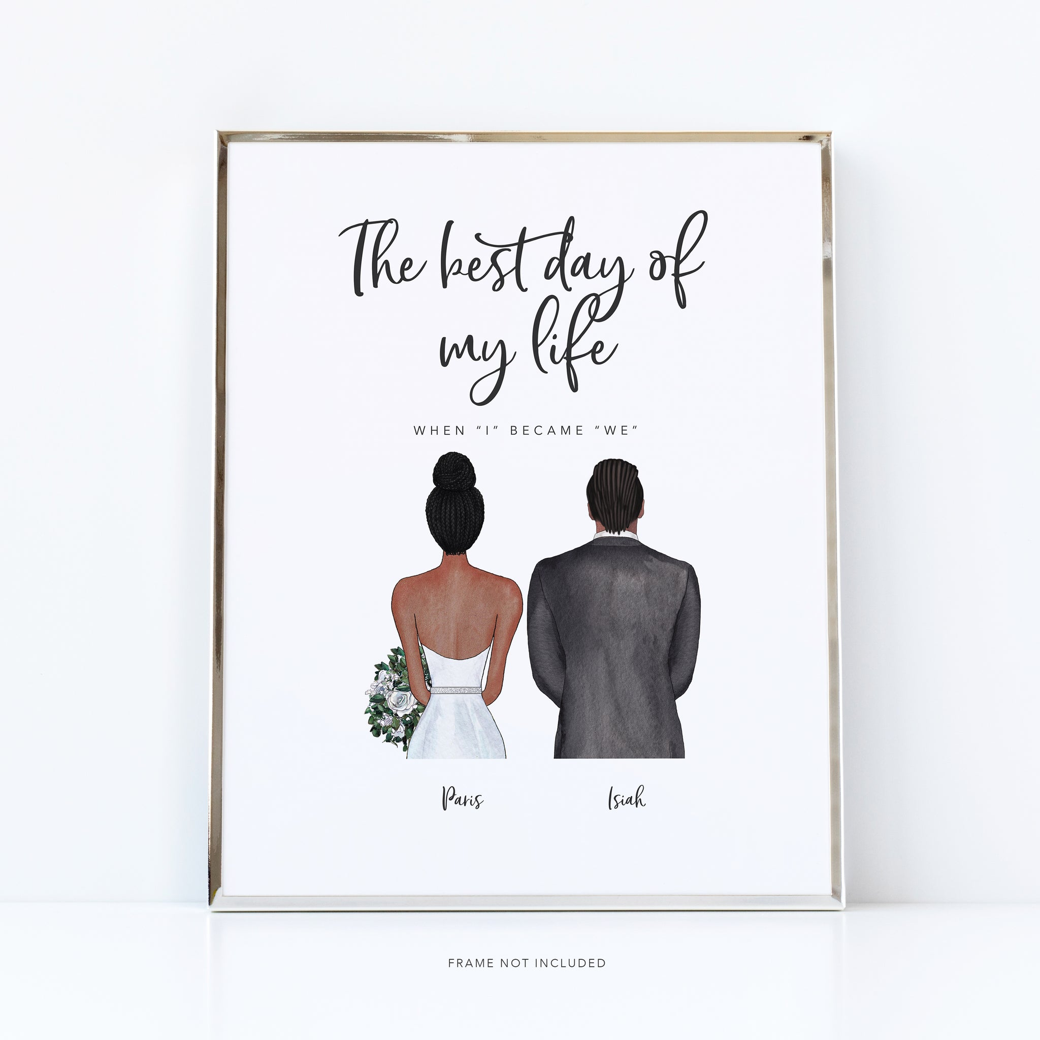 Best day of my life print | wedding anniversary gift