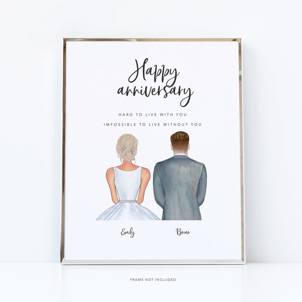 Funny anniversary gifts / Wedding anniversary gift / Wedding memories