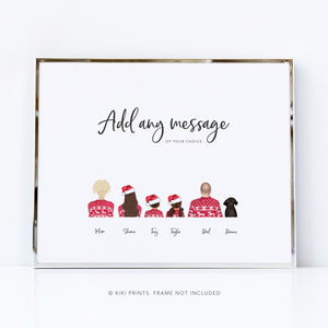 Family Christmas picture | personalised print for Christmas