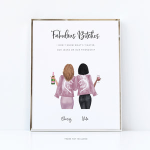 She's my best friend print | bestie present
