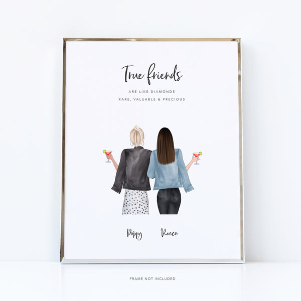 Funny best friend gift | besties forever