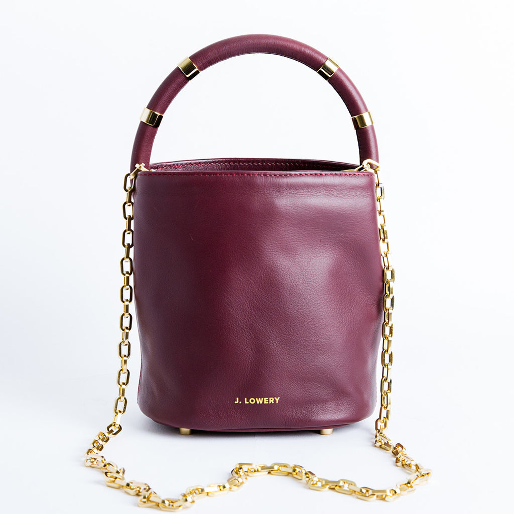 small burgundy leather crossbody bag