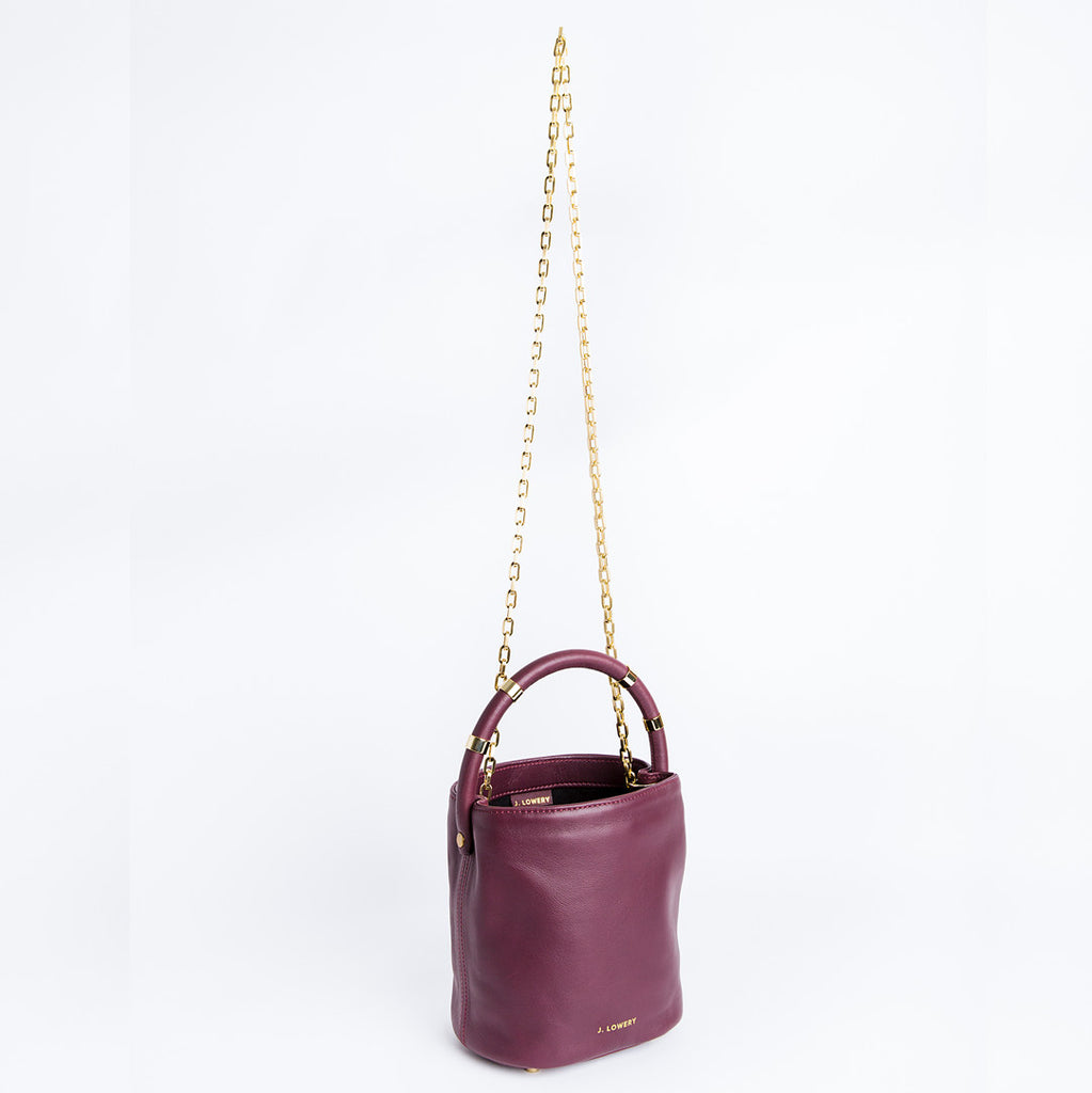 small burgundy leather bag crossbody chain