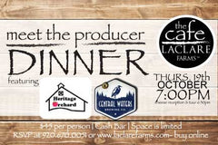 LaClare Farms Meet the Producer Dinner - October 19, 2017