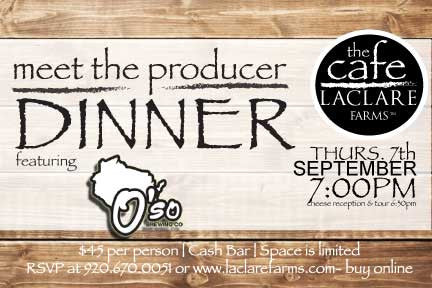 LaClare Farms Meet the Producer Dinner - September 7, 2017