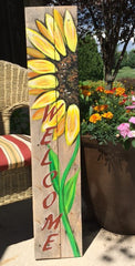 Painting Class: Sunflower Wooden Welcome Sign