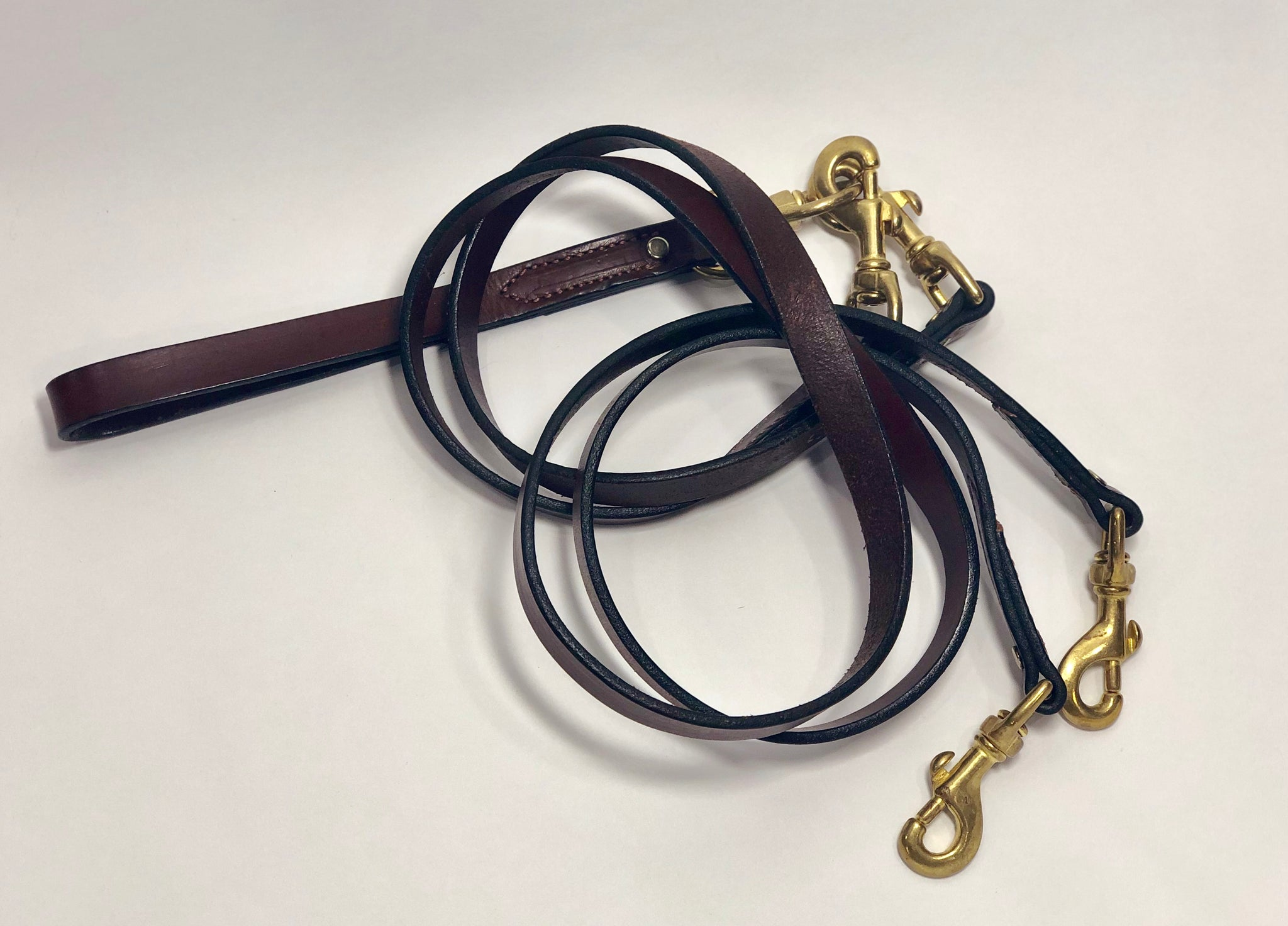 Leather Double Leash