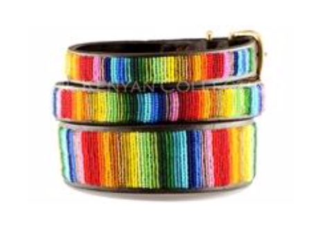 Rainbow Beaded Collar