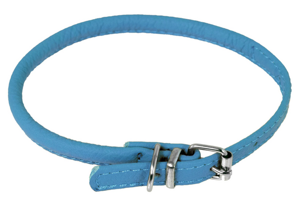 Rolled Leather Buckle Collar