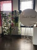 black and white flower wall hire melbourne rougeflowerwalls