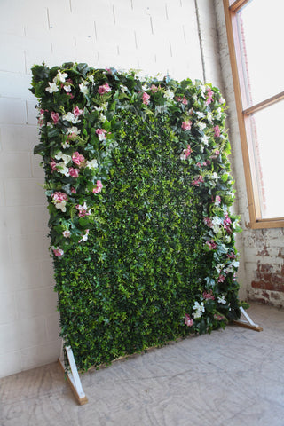 green foliage flower wall hire melbourne rougeflowerwalls
