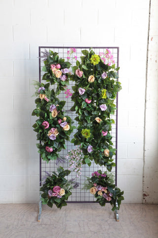 grid flower wall hire melbourne rougeflowerwalls
