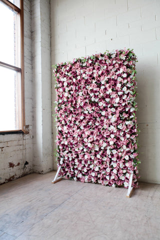 royal purple flower wall hire melbourne rougeflowerwalls