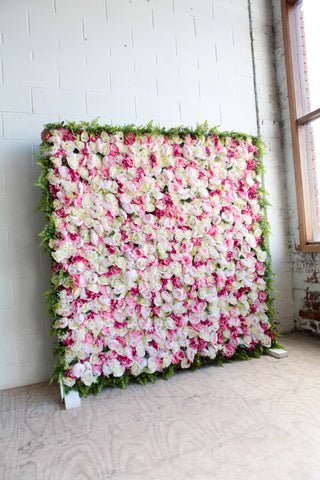 Blush pink Flower Wall hire melbourne - Flower Wall 1 Rougeevents