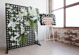black and white ivory flower wall hire melbourne rougeflowerwalls