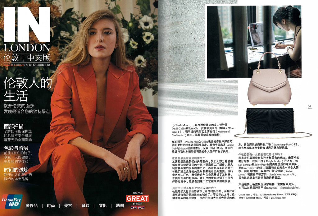 Grace Han featured in IN London Magazine