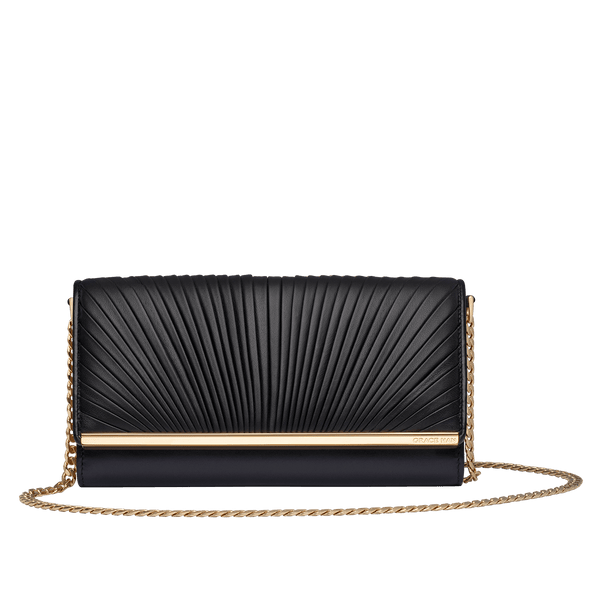 Grace Han Ballet Lesson Chain Wallet in Black